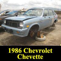 Junkyard 1986 Chevrolet Chevette