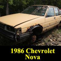 Junkyard 1986 Chevrolet Nova