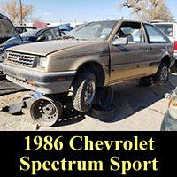 Junkyard 1986 Chevrolet Spectrum