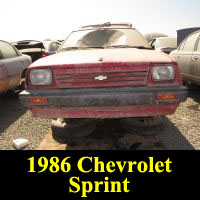 Junkyard 1986 Chevrolet Sprint