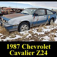 Junkyard 1987 Chevrolet Cavalier Z24 Hatchback