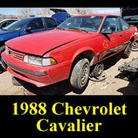 Junkyard 1988 Chevrolet Cavalier Coupe