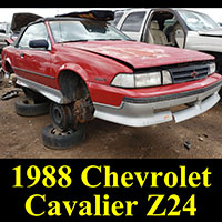 1988 Chevrolet Cavalier Z24 Convertible in junkyard