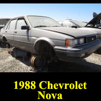Junkyard 1988 Chevrolet Nova