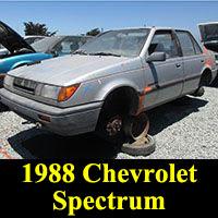 Junkyard 1988 Chevrolet Spectrum