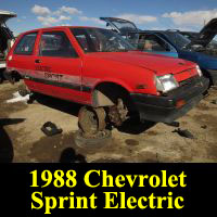 Junkyard 1988 Chevrolet Sprint EV