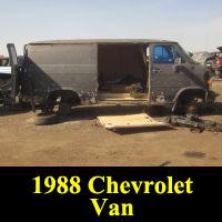 Junkyard 1988 Chevrolet Van