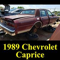 Junked 1989 Chevrolet Caprice