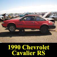 Junkyard 1990 Chevrolet Cavalier RS
