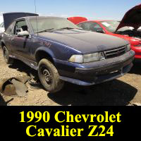 Junkyard 1990 Chevrolet Cavalier Z24