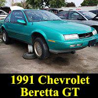Junkyard 1991 Chevrolet Beretta GT