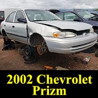 Junkyard 2002 Chevrolet Prizm