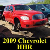 2009 Chevrolet HHR in junkyard