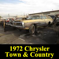 Junkyard 1972 CHrysler Town & Country