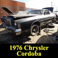 Junkyard 1976 Chrysler Cordoba