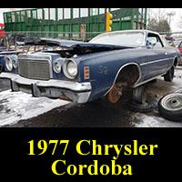 Junkyard 1977 Chrysler Cordoba