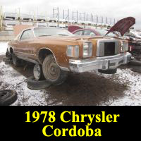 Junkyard 1978 Chrysler Cordoba