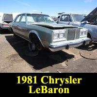 Junkyard 1981 Chrysler Lebaron