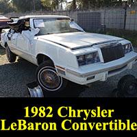 Junkyard 1982 Chrysler LeBaron Convertible