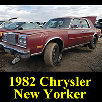 1982 Chrysler 5th Avenue in junkyard