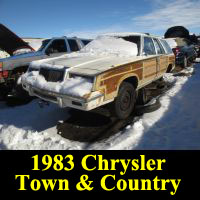 Junkyard 1983 Chrysler Town & Country wagon