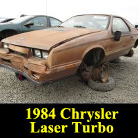 Junkyard 1984 Chrysler Laser XE Turbo