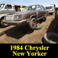 Junkyard 1984 Chrysler New Yorker
