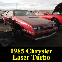 Junkyard 1985 Chrysler Laser XE