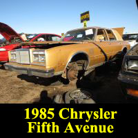 Junkyard 1985 Chrysler New Yorker 5th Avenue