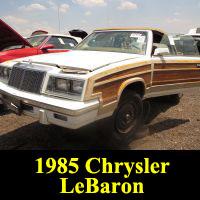 Junkyard 1985 Chrysler LeBaron Convertible