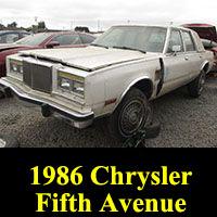 Junkyard 1986 Chrysler Fifth Avenue