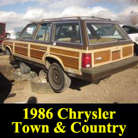 Junkyard 1986 Chrysler Town & Country