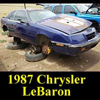 Junkyard 1987 Chrysler LeBaron