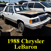 Junkyard 1988 Chrysler LeBaron Turbo Sedan