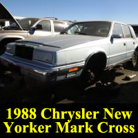 Junkyard 1988 Chrysler New Yorker Mark Cross Edition