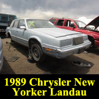 Junkyard 1989 Chrysler New Yorker Landau