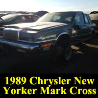 Junkyard 1989 Chrysler New Yorker Mark Cross