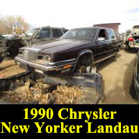 Junkyard 1990 Chrysler New Yorker Landau