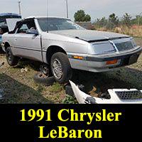 Junkyard 1991 Chrysler Lebaron convertible
