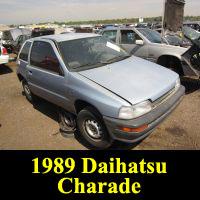 Junkyard 1989 Daihatsu Charade