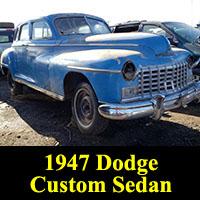 Junkyard 1947 Dodge Custom Sedan