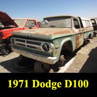 Junkyard 1971 Dodge D-100 Pickup Truck