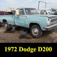 Junkyard 1972 Dodge D-200 Truck
