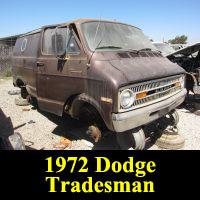 Junkyard 1972 Dodge Tradesman
