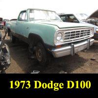 Junkyard 1973 Dodge D-100