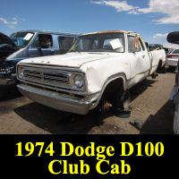 Junkyard 1974 Dodge D-200