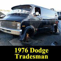 Junkyard 1976 Dodge Tradesman Van