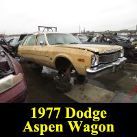 Junkyard 1977 Dodge Aspen Wagon