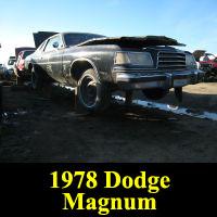 Junkyard 1978 Dodge Magnum