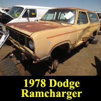 Junkyard 1978 Dodge Ramcharger